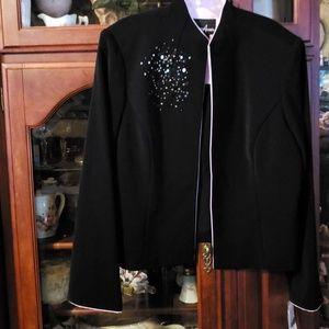 NWTS Black embellished jacket top